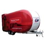 Zippy shell storage trailer